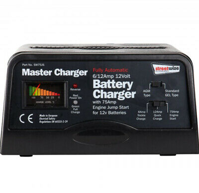 Automatic Battery Charger 12V -6/12Amp & 75amp Engine Started