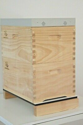 Double Beehive 16 Frame Honey Bee Box Langstroth Complete Kit set Flat Packed