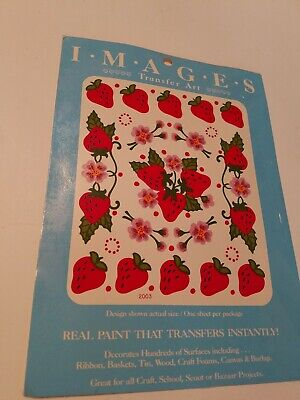 Meyercord Transfer Art (Real Paint That Transfers Instantly) STRAWBERRIES #2003