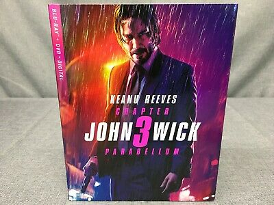 New & Sealed, John Wick Chapter 3 Parabellum (Blu-Ray+Dvd+Digital)-
