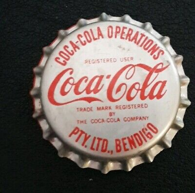 Coca Cola Bendigo Bottle Cap 1980,s Unused Mint PVC Lined