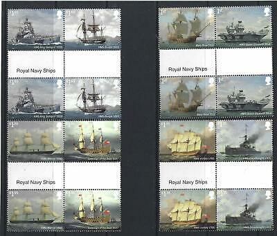 Great Britain 2019 Royal Navy Ships  Gutter Pairs Unmounted Mint, Mnh