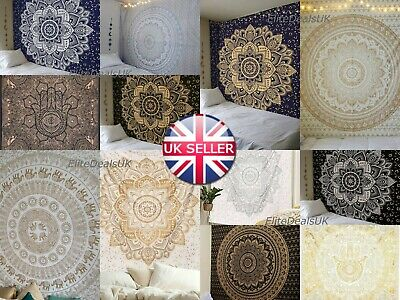 Large Indian Cotton Tapestry Wall Hanging Mandala Hippie Bedspread Throw Cover