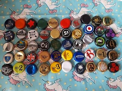 50 Assorted Used Beer Bottle Tops