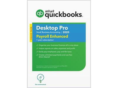 Intuit QuickBooks Desktop Pro 2020 with Enhanced Payroll
