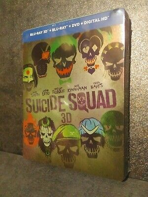 Bluray 3D Suicide Squad Steelbook Neuf Sous Blister