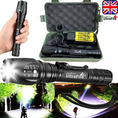 350000LM T6 LED Flashlight Rechargeable Zoomable Torch Work Light Bike Headlamp