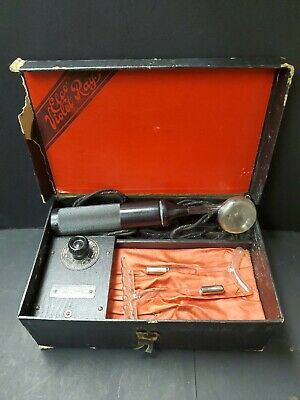 Antique Vintage Medical Quackery Machine - Elco Violet Ray - Electrical - Works!