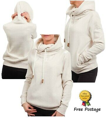 Premium Womens Ladies Fleece Lined Brushed Hoodie Ex UK Chainstore XXS - XL
