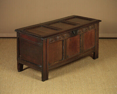 Antique Mid 18th.c. Oak Coffer c.1740.