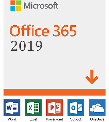 Microsoft Office 2019 365 Pro Plus - 5 Devices | Lifetime | 5TB Cloud Storage