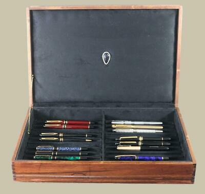 #704 Custom Built Solid Mahogany Fountain Pen Storage Display Chest Hand Crafted