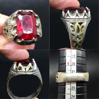 antique rare nice wonderful old Roman ring with natural red old crystal stone