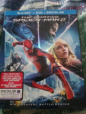 Amazing Spider-Man 2 bluray + DVD + digital NEW with slipcover
