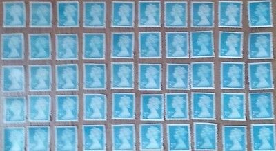 100 UNFRANKED  2nd CLASS STAMPS OFF PAPER NO GUM F/V £61.00