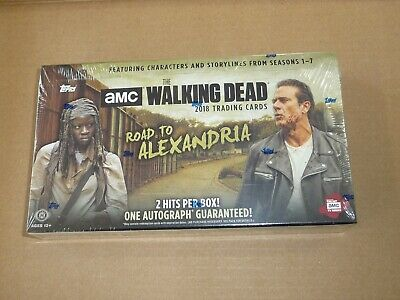 2018 Topps THE WALKING DEAD ROAD TO ALEXANDRIA FACTORY SEALED HOBBY BOX 2 HITS