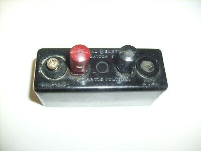 Vintage Bakelite GE Push Button Motor Switch  1/3 HP CR1072A100A 115 VOLTS radio