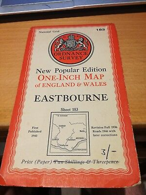 Ordnance Survey One Inch Map of England & Wales 1946 Eastbourne 182