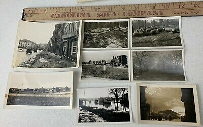 Lot of 8 Original WWII Photos US Army Camp Trucks Train ETO Cologne Germany