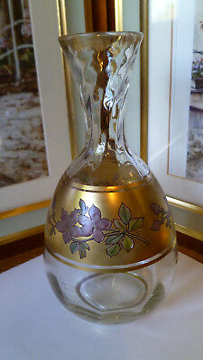 Vintage Bohemian Hand Decorated And Gilded Vase