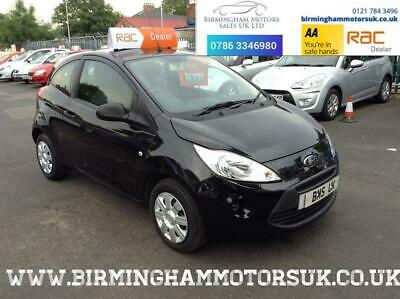 2010 (10 Reg) Ford Ka 1.2 STUDIO 3DR Hatchback BLACK + LOW MILES