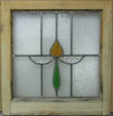 "OLD ENGLISH LEADED STAINED GLASS Pretty Simple Sweep Design 18.25"" x 19"""