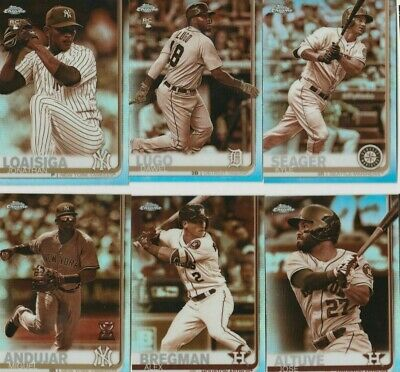 2019 Topps Chrome Sepia Refractor Complete Your set #1-204 You Pick