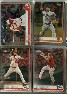 2019 Topps Chrome Base Cards Complete Your set #1-204 You Pick