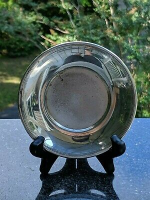 """Forbes 530 Silverplate 5"""" Round Recessed Dish/Plate - Quadruple Plate"""