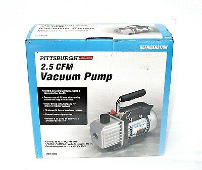 Pittsburgh 98076 2.5 CFM Vacuum Pump Refrigeration ~New In Box