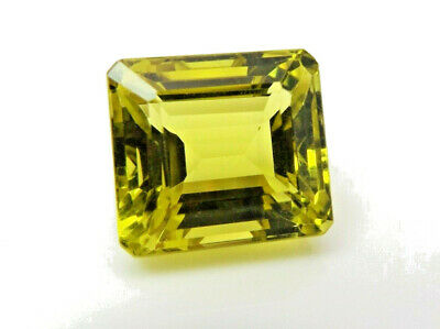 1x Citrin Lemon - Octagon facettiert 24,40ct. IF 16,6x15x12,2mm (2538X)