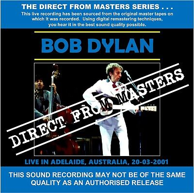Bob Dylan - Live In Adelaide, Australia 2001 - Direct From Masters 2 CD