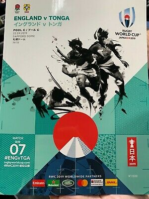 Official Programme 2019 Rugby World Cup England v Tonga
