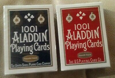 Playing Cards - Aladdin 1001 Standard (Smooth Finish) - 2 Decks Red And Blue...