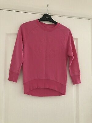 Girls Pink Longer Length Sweatshirt/Top By Converse All Star (Size 8-10 Yrs)