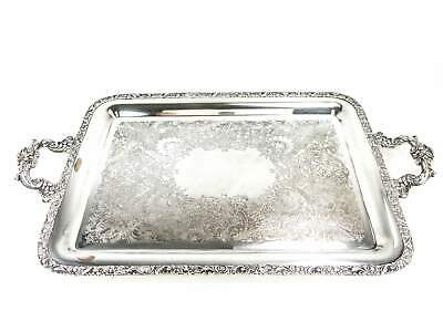 Vintage Silver Plate Serving Tray New Beverly Manor Wilcox IS 1382