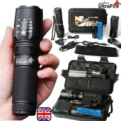 Powerful 350000LM Ultrafire X800 T6 LED tactical Flashlight Zoom Torch Headlamp