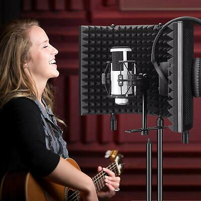 Microphone Booth Studio Recording Vocal Microphone Isolation Shield Reflector