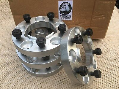 Land Rover Defender/Discovery 1 Wheel Spacers 30mm Hubcentric Aluminium Bulldog