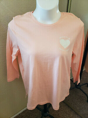 "Women's NWT OLD NAVY Size XL Peach Long Sleeve ""Wish You Were Here"" T-shirt"