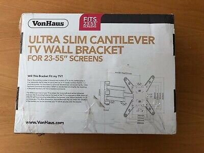 "VonHaus 23-55"" Tilt & Swivel TV Wall Mount Bracket for 23-55"" screens"