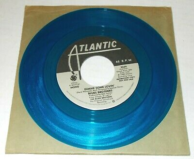 """THE BLUES BROTHERS PROMO 45 GIMME SOME LOVIN 7"""" BLUE VINYL Atlantic EXCELLENT"""