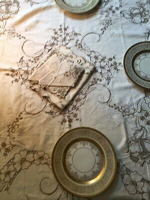 Holiday Special Set of Antique Madeira Hand Embroidered Table Linens