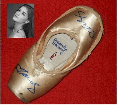 American Ballet Theatre Soloist Cassandra Trenary Signed Pointe Shoes Slippers