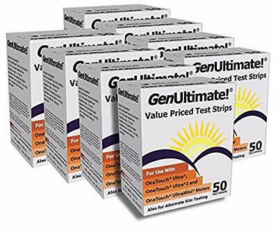 GenUltimate! Blood Glucose Strips 8 Boxes (50 Count)