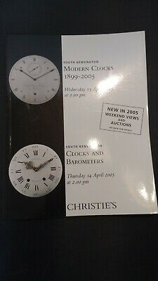 CHRISTIE'S CATALOGUE 2005 Modern Clocks 1899-2005 clocks and barometers