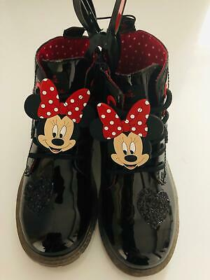 DISNEY MINNIE MOUSE Calf Boots Lace Boots Black Infant Girl Young Girls Primark