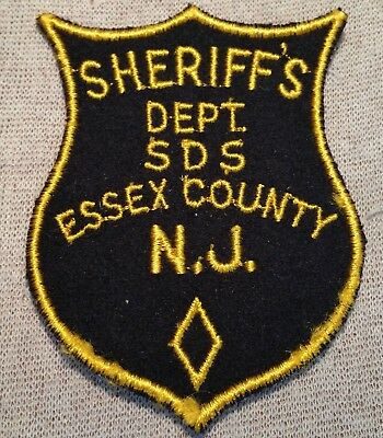 NJ Vintage Essex County New Jersey SDS Sheriff Patch (4In/Felt)