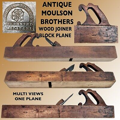 """Antique Moulson Brothers 23 1/4""""Joiner Wood Block Plane"""