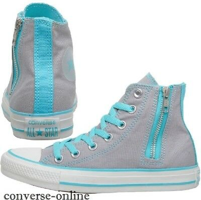 Women's Girls CONVERSE All Star GREY HIGH TOP Trainers Boots SIZE UK 3